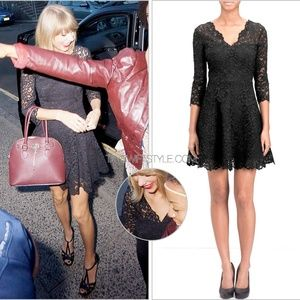 & Other Stories Black Lace Dress ASO Taylor Swift